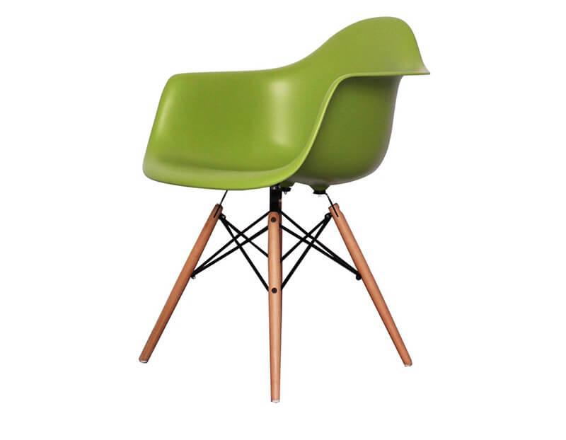plastic armchair vitra greenery pantone