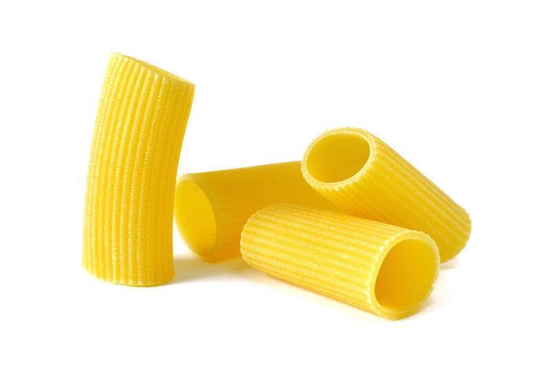 formato di pasta rigatoni