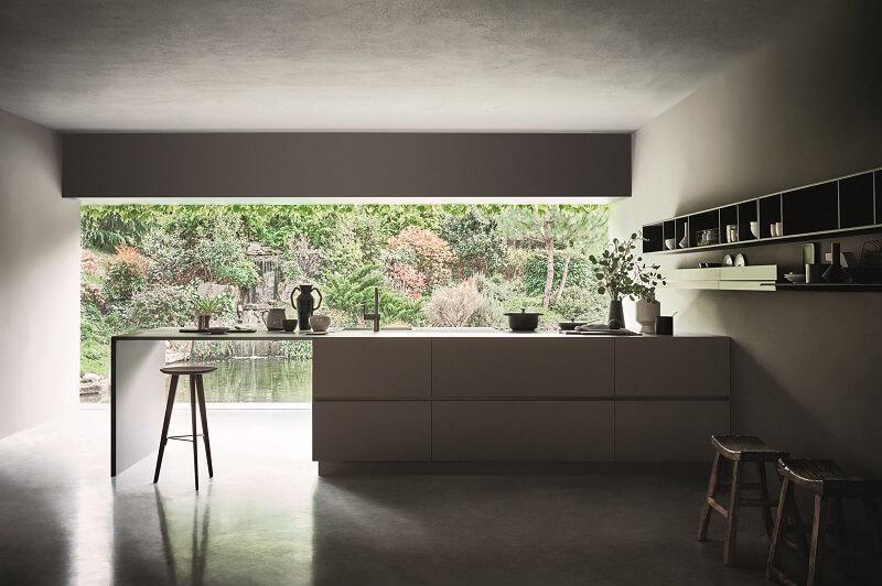 Cucina N_Elle Cesar Fenix Pietra Titanio