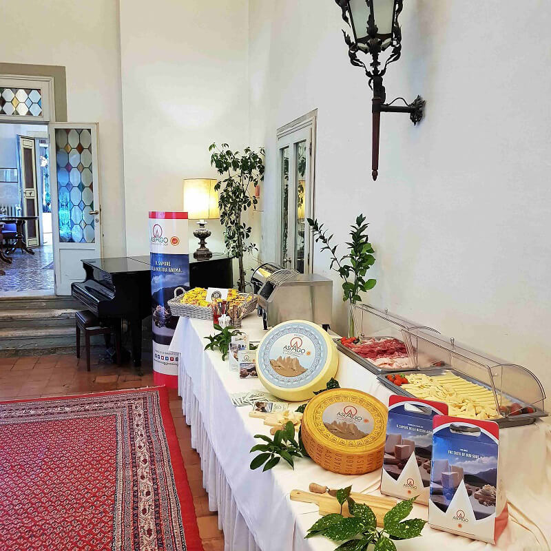 Formaggio Asiago partnership con Consorzio Ville Venete