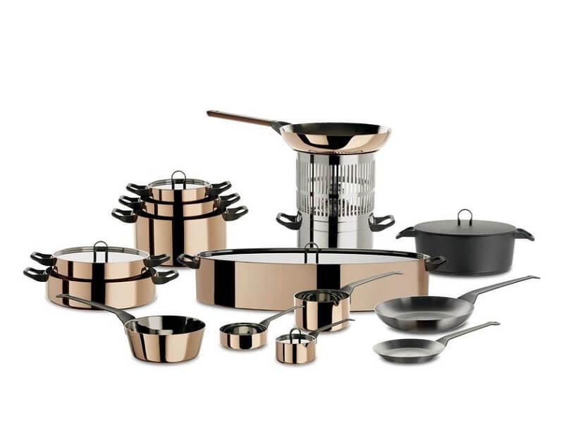 Collezioni Alessi La Cintura di Orione cookware set rame