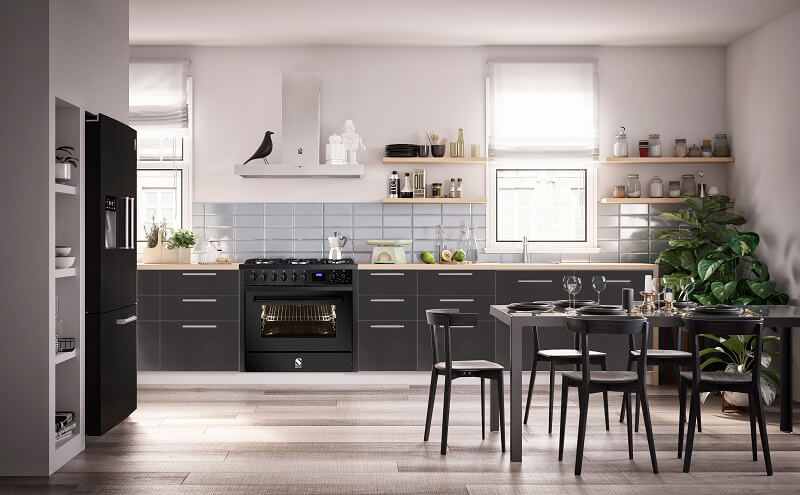 Enfasi All Black Steel Cucine