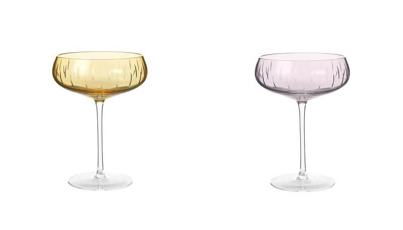 Colore in tavola Louise Roe Champagne Glasses