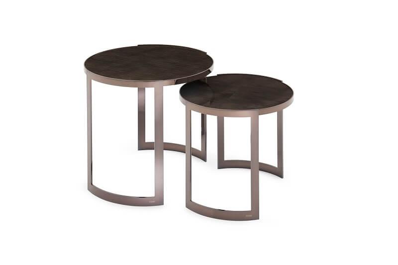 Fendi Casa Anya side tables Sycamore