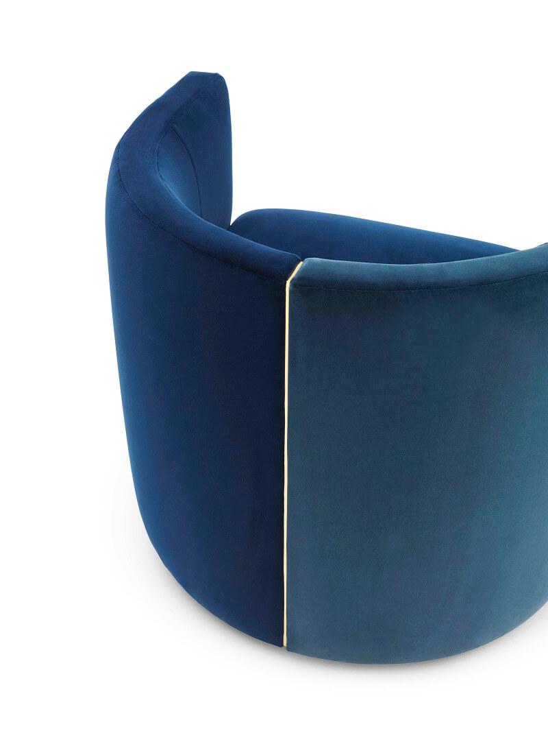 Fendi Casa Camilla armchair bicolour detail