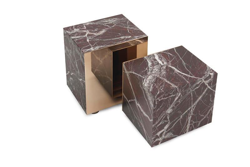 Fendi Casa Prisme marble coffee tables