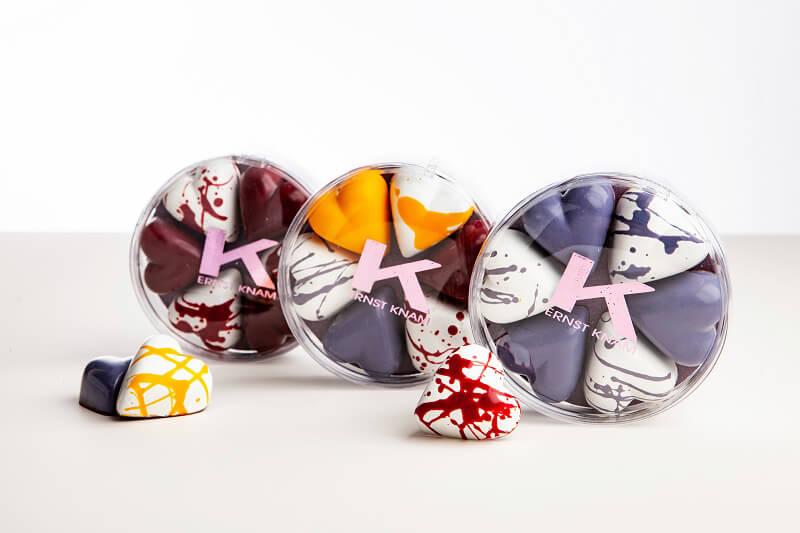 San Valentino al cioccolato Scatole Knam 6 cioccolatini cuore