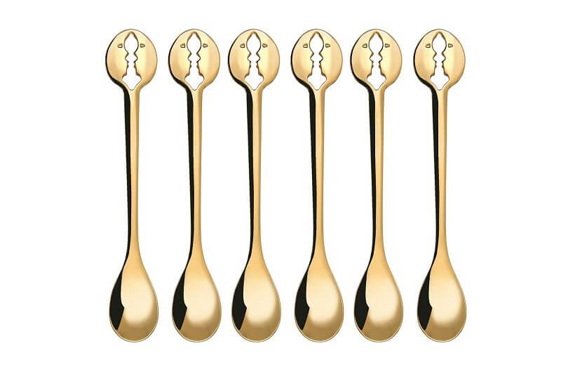 Bugatti Kiss set 6 cucchiaini moka oro