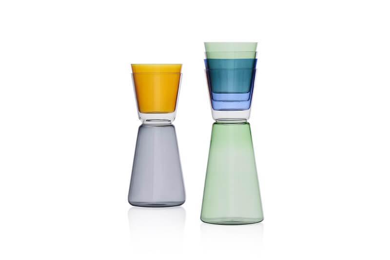 Glasses and jugs High Rise by Keiji Takeuchi Accessori per la tavola Ichendorf Milano
