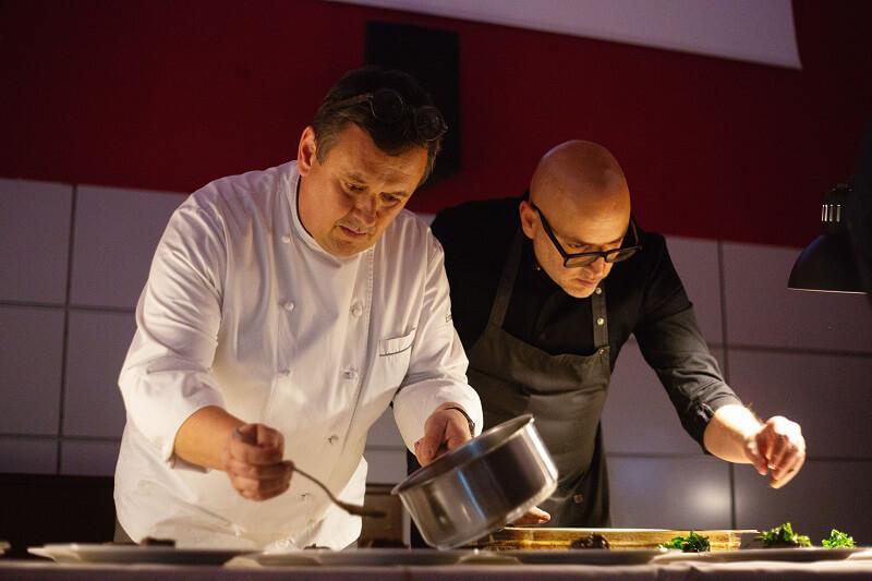 Ricetta a quattro mani Chef Emanuele Scarello e David Marchiori