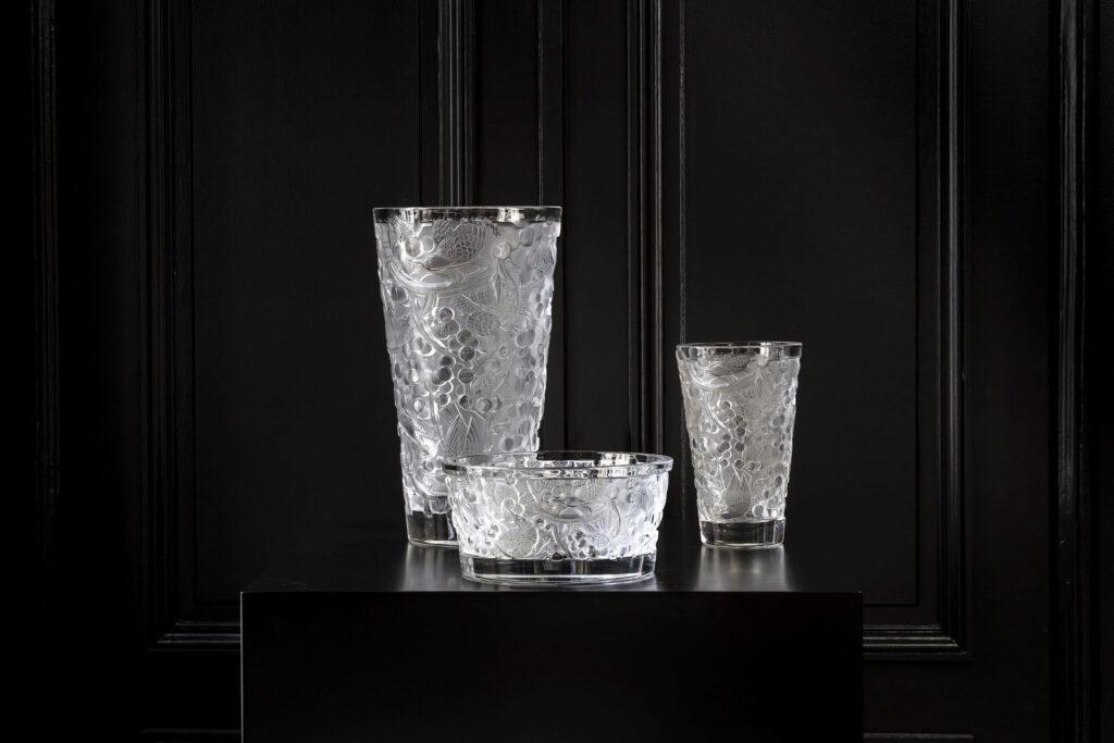 Trio Merles and Raisins Clear Gaïa Lalique