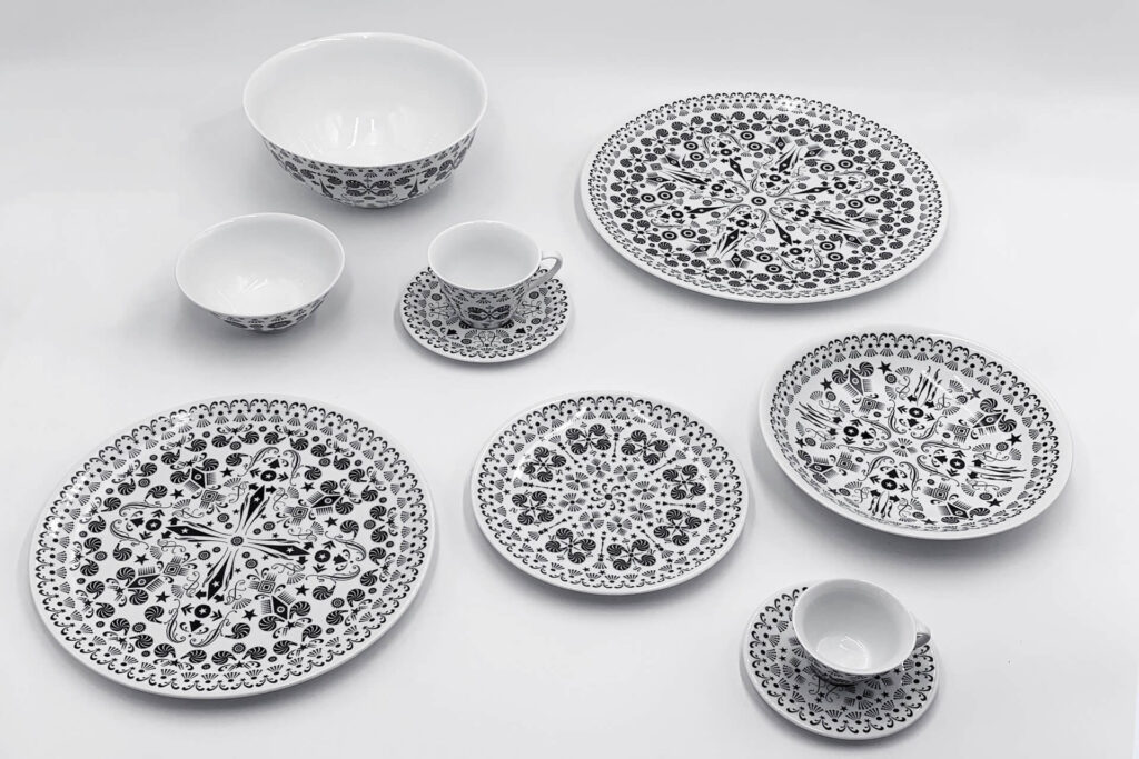 Arte della tavola The White Snow Once upon a plate Driade